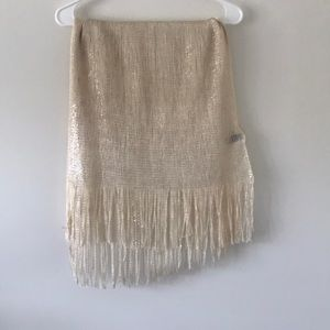 Gold metallic wrap/ scarf